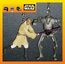 STAR WARS MACE WINDU & SUPER BATTLE DROID MOVIE FIGURES CEILING FAN PULLS