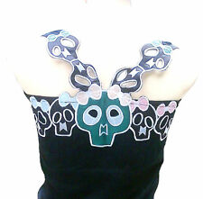 CUTE SKULL GIRL'S Rockabilly TANK TOP SHIRT XS/M/L/XL