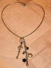 Mixed Metal Victorian Necklace Steampunk Vintage Charms