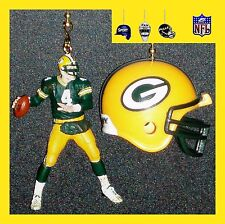 NFL GREEN BAY PACKERS FAVRE FIGURE & FOOTBALL HELMET OR CAP CEILING FAN PULLS