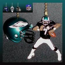 NFL PHILADELPHIA EAGLES QUARTERBACK FIGURE & RIDDELL HELMET CEILING FAN PULLS
