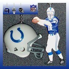 NFL FOOTBALL INDIANAPOLIS COLTS RIDDELL HELMET & MANNING FIGURE CEILING FAN PULL