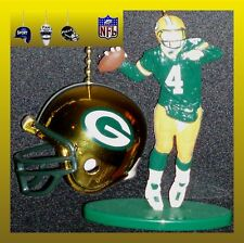 NFL GREEN BAY PACKERS BRETT FAVRE FIGURE & CHOICE OF FOOTBALL HELMET FAN PULLS