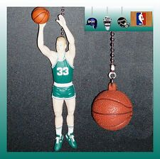 NBA BOSTON CELTICS LARRY BIRD FIGURE & CHOICE OF BASKETBALL CEILING FAN PULLS