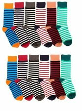 12 Pairs Mens Colorful Plain Ribbed Dress Socks NEW #MDV Neon Freedom Size 10-13
