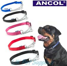 Ancol  Half Check Choke Nylon Chain Dog Training Collar