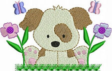Cute Puppy Dogs Machine Embroidery Designs CD Set