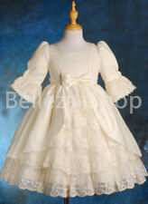Quality Satin Lace Wedding Flower Girl Party Victorian Dress Kid Size 1-9 VD003
