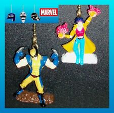 MARVEL COMICS–SUPERHEROES FIGURE X–MEN CEILING FAN PULLS–WOLVERINE, JUBLIEE, ETC