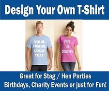 Custom IMAGE Printed Tshirts Personalised Stag Team NEW