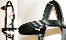 FSS German IGLOO DOUBLE TRIPLE RAISED Comfort BRIDLE WIDE 4.5CM CRANK Noseband