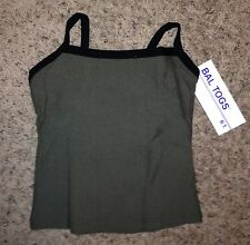 NEW Bal Togs Black Olive Green Dance Jazz Yoga Camisole Top Shirt Adult S M L