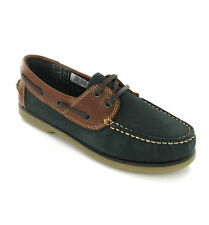 DEK Boat Nubuck Leather Moccasin Womens Deck Lace Shoes Loafers UK3-8