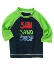 GYMBOREE SWIM SHOP SUN SAND SURF RASHGUARD 12 18 24 NWT