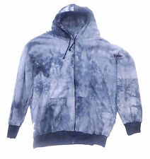 Tall Tie Dye Hooded Zipper Sweatshirts LT - 12XLT Hoodie Made in USA