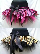 PLUS SIZE TIGER ZEBRA TUTUS RARA JUNGLE CIRCUS COSTUME