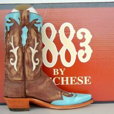 Lucchese 1883 Womens Antique Brown Buffalo Cowgirl Boot