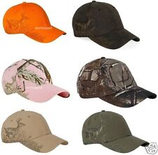 Dri Duck Running Buck Deer Cap 3301 Realtree Camo Blaze Orange Baseball Hat