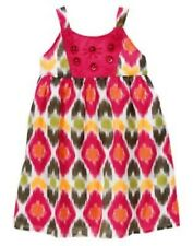GYMBOREE BATIK SUMMER BATIK PRINT WOVEN DRESS 3 6 12 2T NWT