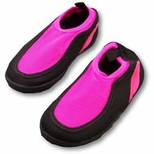 Girls WATER SHOES AQUA SOCKS for Pool or Beach or Boat PINK Sizes 11 to 4  NEW