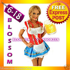 E14 Ladies Beer Maid Wench German Heidi Oktoberfest Gretchen Costume Outfit
