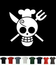 Sanji Flag T-Shirt One Piece T Chef Tee Pirate King Straw Hat Monkey Luffy Manga