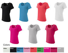 Anvil Ladies Sheer Scoopneck T-Shirt, Comes in 6 Colors & 6 Sizes, (391)