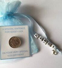 PERSONALISED LUCKY SIXPENCE Baby / Boy Birthday Gift 1st, 2nd, 3rd, 4th + more