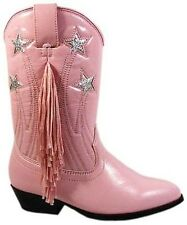 Kids Pink Fringed Cowgirl Boots Sizes 9-3