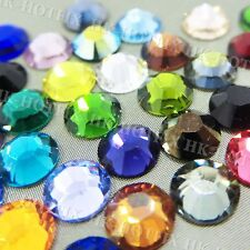 High Quality crystal 2mm 3mm 4mm you choose Iron on Flatback Hot fix Rhinestones