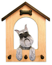 Schnauzer (Miniature) Dog House Leash Holder. In Home Wall Decor Products-Gifts