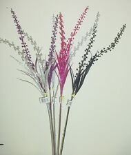 85cm Glitter Poke Berry Spray for Flower Arrangements Various Colours Available