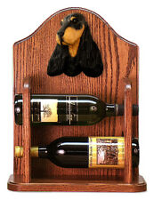 English Cocker Spaniel Dog Breed Portrait Wine Racks. Decorative Wood Products.