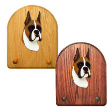 Boxer Dog Figure Key Leash Holder. In Home Wall Decor Wood Products & Dog Gifts.