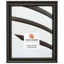 "Craig Frames Tulip Poplar, 1"" Simple Black Hardwood Picture Frame"