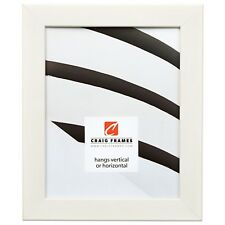 "Craig Frames Colori, 1.25"" Modern White Picture Frame"