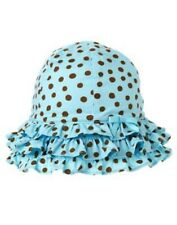 GYMBOREE ISLAND BEAUTY BLUE w/ BROWN DOT SUN HAT 0 3 6 12 18 24 NWT