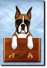 Boxer Dog Topper Leash Holder. In Home Wall Decor Products & Collectible Gifts.