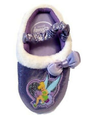 Tinkerbell Fairy Purple Glitter Sparkly Slippers Shoes all sizes Toddlers