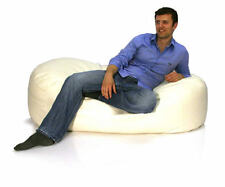 Faux Leather Bean Bag Lounger! 150cmx80cm  NEXT-DAY-DEL