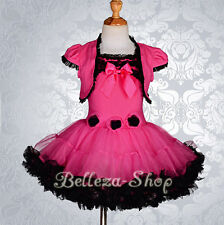 Girls Pettiskirt Petti Dress Pettidress Tutu Pageant Party Baby Kid 12m-10 PP101