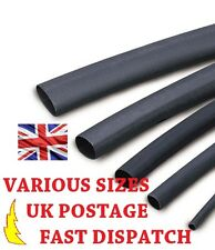 4.8mm Black Heat Shrink Tubing Various Sizes 2:1 Ratio Sleeving Heatshrink