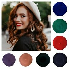 Ladies High Quality 100% Wool French Beret