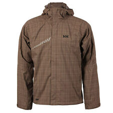 Mens Brown Checked Helly Hansen Coat     NEW     ALL SIZES