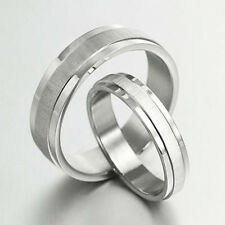 Groom / Bride Plain Matching Wedding Engagement Bands Titanium Ring Set 4/6m