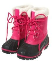 GYMBOREE CHEERY ALL THE WAY PINK FUR TRIM SNOW BOOTS 10 11 13 1 NWT-OT