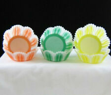 """NEW 50 2"""" SCALLOP EDGE Grease Proof Candy Cupcake Baking Cups Assorted Colors"""