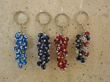 EVIL EYE KEY CHAIN,GLASS BEADS, GOOD LUCK CHARM, PROTECTION, CAR,