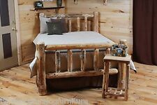 Rustic Log Bed!! Great for Cabin Rustic Log Furniture log Beds!