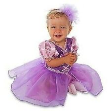 Disney Store Rapunzel Tangled Infant Baby Toddler Dress Costume & Headband girl